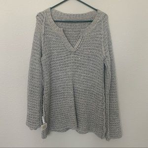 Grey long sweater